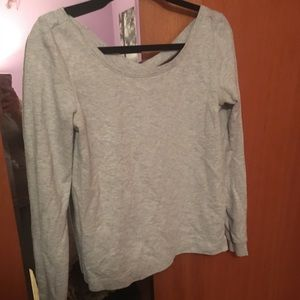 Gray cross back Aerie sweater